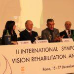 Simposio internazionale su ipovisione e riabilitazione (Roma, 15 dicembre 2010).Da sinistra:Nicoletta Carbone (Radio24), avv.Giuseppe Castronovo (Presidente IAPB Italia onlus), Rodolfo Panfili (delegato del Sindaco di Roma) e Mario Stirpe (Fondaz.Bietti)