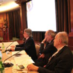 Da sinistra Michele Corcio (Vicepresidente IAPB Italia onlus), Filippo Cruciani (Università Sapienza di Roma) e Alfredo Reibaldi (Polo Nazionale)