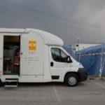10 aprile 2009: Emergenza terremoto in Abruzzo. Unità mobile oftalmica della IAPB Italia onlus all'Aquila (5)