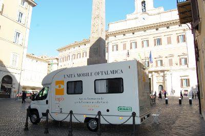 Unità mobile oftalmica a Montecitorio