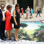 Da destra:la dott.ssa Stefania Fortini (Polo Nazionale), Nicoletta Carbone (Radio24), Tiziano Melchiorre (IAPB Italia onlus) e il dott. Filippo Amore (Polo Nazionale) a Milano il 16 giugno