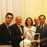 Il Presidente del Senato Pietro Grasso all'ambulatorio di Palazzo Madama per la retinografia (28 giugno 2017)