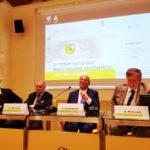 Da destra Matteo Piovella (Presidente SOI), Giuseppe Castronovo (Presidente IAPB Italia), Walter Ricciardi (Presidente dell'Istituto Superiore di Sanità) e il moderatore