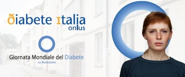 Giornata mondiale del diabete: banner di Diabete Italia onlus