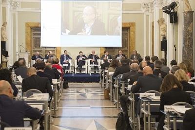 Palazzo Rospigliosi, Roma: sala in cui è stato presentato il nuovo rapporto sulla salute degli italiani