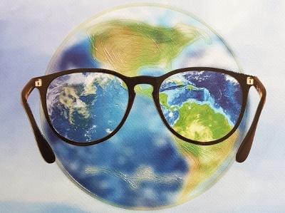 Mondo e occhiali (immagine del Seminario sull'ipovisione che si tiene annualmente a Roma, presso l'Università Sapienza)