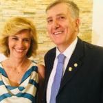 Il dott. Matteo Piovella, Presidente della Società Oftalmologica Italiana (SOI), con Livia Azzariti