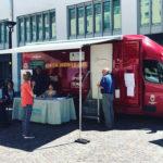 Controlli oculistici effettuati a Bolzano a bordo di un'Unità mobile oftalmica (foto: IRIFOR del Trentino)
